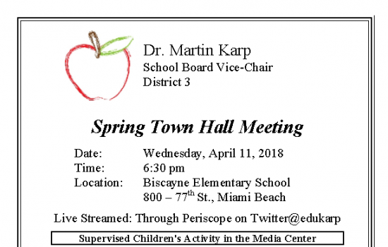 Spring Town Hall Meeting