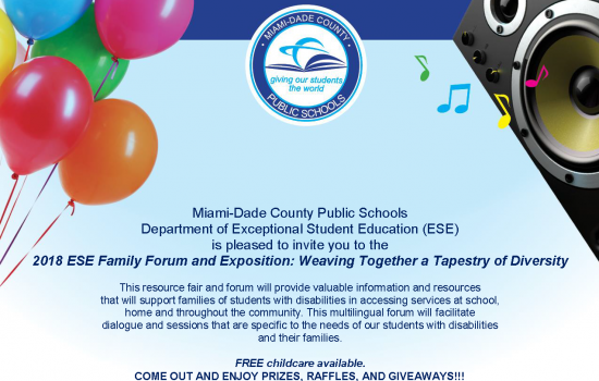 2018 Exceptional Student Education (ESE) Family Forum and Exposition: Weaving Together a Tapestry of Diversity